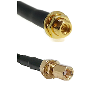 MMCX Female Bulkhead on LMR100 to SSMC Female Bulkhead Cable Assembly