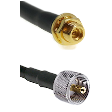 MMCX Female Bulkhead on LMR100 to UHF Male Cable Assembly