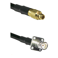 MMCX Male on LMR100 to BNC 4 Hole Female Cable Assembly