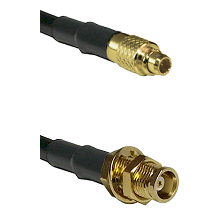 MMCX Male on LMR100 to MCX Female Bulkhead Cable Assembly