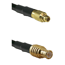 MMCX Male on LMR100 to MCX Male Cable Assembly