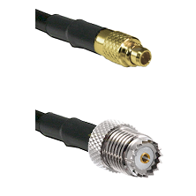 MMCX Male on LMR100 to Mini-UHF Female Cable Assembly