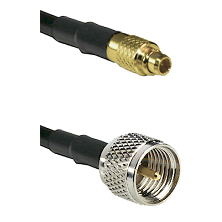 MMCX Male on LMR100 to Mini-UHF Male Cable Assembly