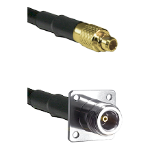 MMCX Male on LMR100 to N 4 Hole Female Cable Assembly