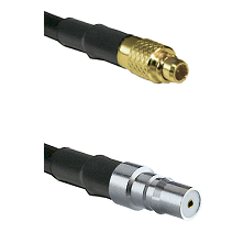 MMCX Male on LMR100 to QMA Female Cable Assembly
