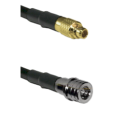 MMCX Male on LMR100 to QMA Male Cable Assembly