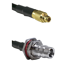 MMCX Male on LMR100/U to QN Female Bulkhead Cable Assembly