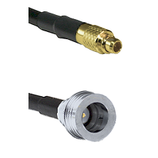 MMCX Male on LMR100/U to QN Male Cable Assembly
