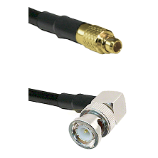 MMCX Male on LMR100 to BNC Right Angle Male Cable Assembly