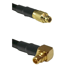 MMCX Male To Right Angle MMCX Male Connectors RG188 Cable Assembly