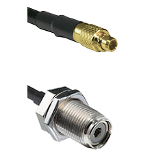 MMCX Male On RG223 To UHF Female Bulk Head Connectors Coaxial Cable