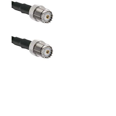 Mini-UHF Female on Belden 83242 RG142 to Mini-UHF Female Cable Assembly