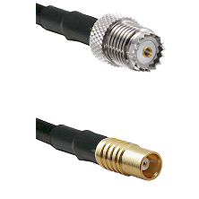Mini-UHF Female on LMR100 to MCX Female Cable Assembly