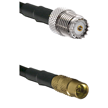 Mini-UHF Female on LMR100 to MMCX Female Cable Assembly