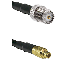 Mini-UHF Female on LMR100 to MMCX Male Cable Assembly