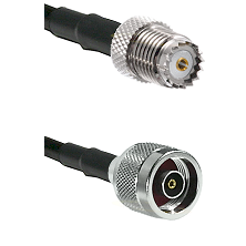 Mini-UHF Female on LMR100 to N Reverse Polarity Male Cable Assembly
