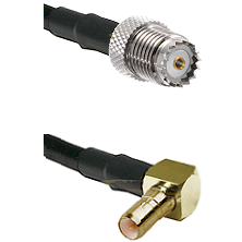 Mini-UHF Female on LMR100 to SSMB Right Angle Male Cable Assembly
