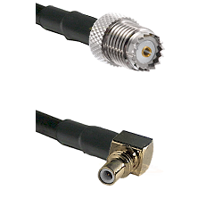Mini-UHF Female on LMR100 to SSMC Right Angle Male Cable Assembly