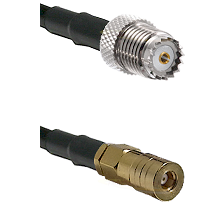 Mini-UHF Female on LMR100 to SSLB Female Cable Assembly