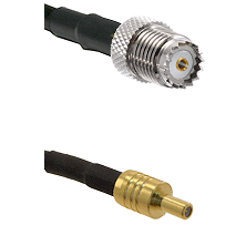 Mini-UHF Female on LMR100 to SSLB Male Cable Assembly