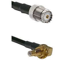 Mini-UHF Female on LMR100 to SSLB Male Bulkhead Cable Assembly