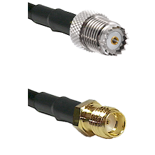 Mini-UHF Female on LMR100 to SSMA Female Cable Assembly