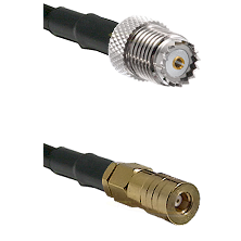 Mini-UHF Female on LMR100 to SSMB Female Cable Assembly