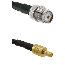 Mini-UHF Female on LMR100 to SSMB Male Cable Assembly