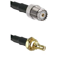Mini-UHF Female on LMR100 to SSMB Male Bulkhead Cable Assembly