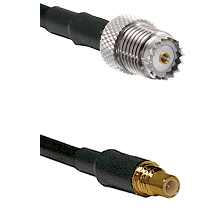 Mini-UHF Female on LMR100 to SSMC Male Cable Assembly