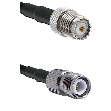 Mini-UHF Female on LMR-195-UF UltraFlex to TNC Reverse Polarity Female Cable Assembly