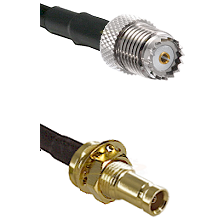 Mini-UHF Female on RG142 to 10/23 Female Bulkhead Cable Assembly