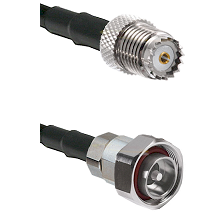 Mini-UHF Female on RG142 to 7/16 Din Male Cable Assembly