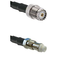 Mini-UHF Female on RG142 to FME Female Cable Assembly