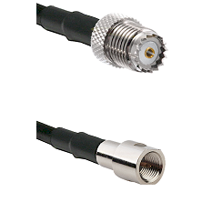 Mini-UHF Female on RG142 to FME Male Cable Assembly
