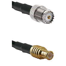 Mini-UHF Female on RG142 to MCX Male Cable Assembly