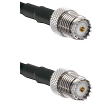 Mini-UHF Female on RG142 to Mini-UHF Female Cable Assembly
