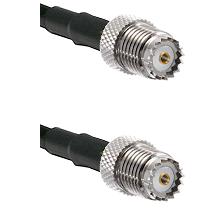 Mini-UHF Female on RG142 to Mini-UHF Female Cable Assembly
