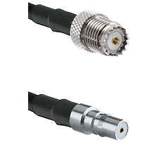 Mini-UHF Female on RG142 to QMA Female Cable Assembly