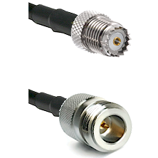 Mini-UHF Female on RG142 to N Reverse Polarity Female Cable Assembly