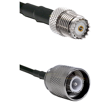 Mini-UHF Female on RG142 to SC Male Cable Assembly