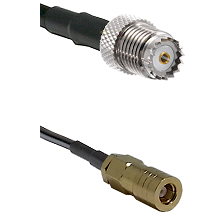 Mini-UHF Female on RG142 to SLB Female Cable Assembly