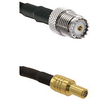 Mini-UHF Female on RG142 to SLB Male Cable Assembly