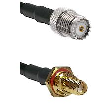 Mini-UHF Female on RG174 to SSMA Female Bulkhead Cable Assembly