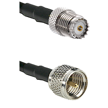 Mini-UHF Female on RG58 to Mini-UHF Male Cable Assembly