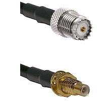 Mini-UHF Female on RG58 to SMC Male Bulkhead Cable Assembly