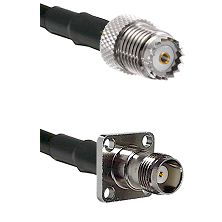 Mini-UHF Female on RG58 to TNC 4 Hole Female Cable Assembly
