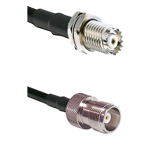 Mini-UHF Female Connector On LMR-240UF UltraFlex To HN Female Connector Cable Assembly