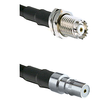 Mini-UHF Female Connector On LMR-240UF UltraFlex To QMA Female Connector Cable Assembly