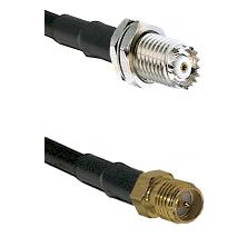 Mini-UHF Female Connector On LMR-240UF UltraFlex To SMA Reverse Polarity Female Connector Coaxial Ca